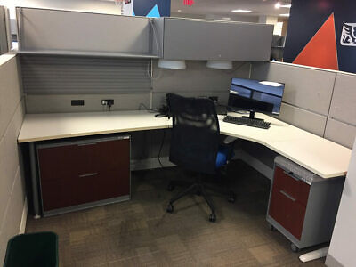 Used Office Cubicles, Teknion Leverage 8x6 Cubicles
