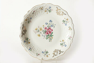 Bavaria Schirnding Large Serving Plate/Bowl Flowers, Ø Ca 27 cm (124542)