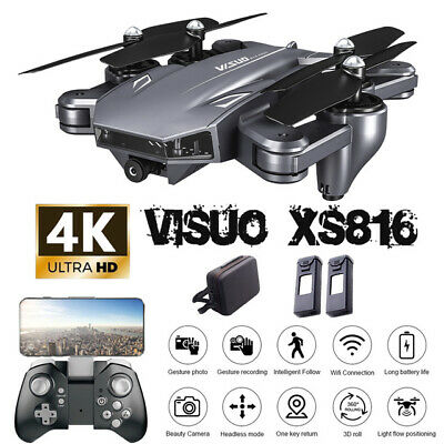 Visuo XS816 Drone 4K With Dual Camera HD Helicopter WiFi FPV RC Optical Flow 🔥✅