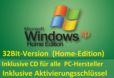 Microsoft Windows XP Home Edition Deutsch 32Bit CD DVD German Aktivierungscode