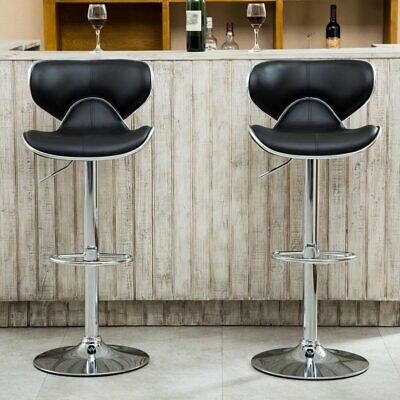 Superb Roundhill Furniture Adjustable Height Wood And Chrome Metal Bralicious Painted Fabric Chair Ideas Braliciousco