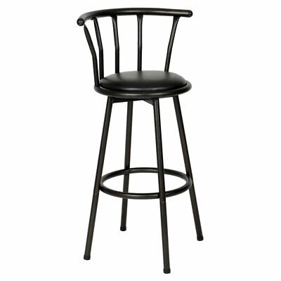 Awesome Roundhill Furniture Swivel Black Bonded Leather Adjustable Bralicious Painted Fabric Chair Ideas Braliciousco