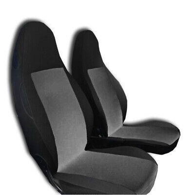 2x BLACK & GREY FRONT RACING SEAT COVERS SMART FORTWO BRABUS ROADSTER CROSSBLADE