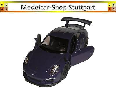 Porsche 911 GT3 rs lila - Pullback - Welly 1:38 - MAP01027217- Museum Edition