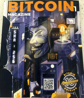 Bitcoin Magazine 10th year Anniversary issue with map insert. RARE ISSUE LIMITED