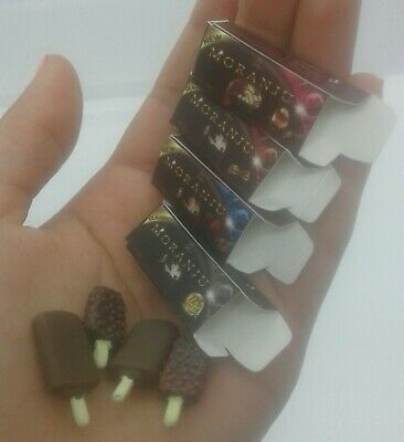 1:12th Miniature Doll House Accessories 3 Mini Icecreams & Boxs