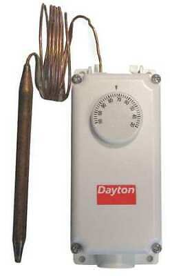 DAYTON 2NNR6 Line Volt Mechanical Tstat, Open/Close on Rise, 24 to 600VAC