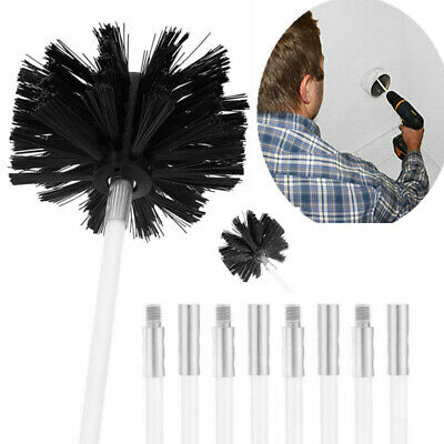 Chimney Flue Cleaning Kit Flue Brush Cleaner Fireplace Rod Sweep Remover Tool AU