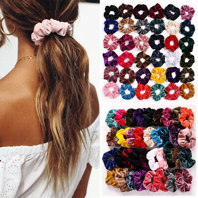 Velvet Scrunchie Elastic Hair Ties For Women Girls Rubber Bands Hair Accessories