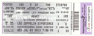 HEART & JASON BONHAM S LED ZEPPELIN EXPERIENCE 7/3/13 Camden NJ Ticket!