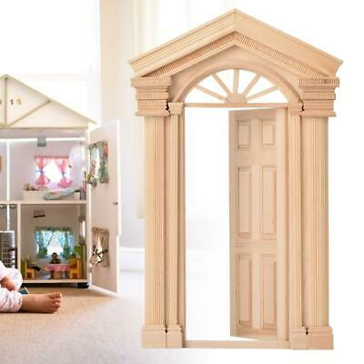Luxury 1:12 Dollhouse Miniature Vintage Mini Furniture Window Wooden Door Toy❤Ho