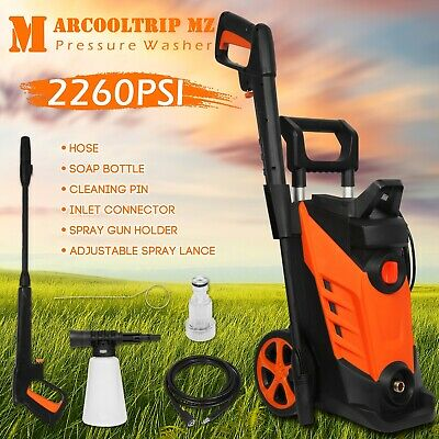 Electric High Power Pressure Washer 2260 PSI/156 BAR Water Cleaner Patio Car Jet