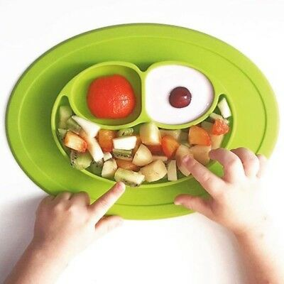 Cute Baby Bowl Silicone Mat Kids Suction Table Food Tray Placemat Plate Non-Slip