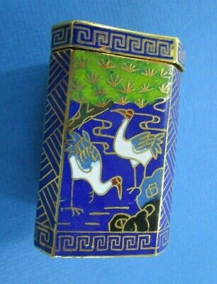 Chinese Export 20thC. Octagonal Blue Cloisonne Box