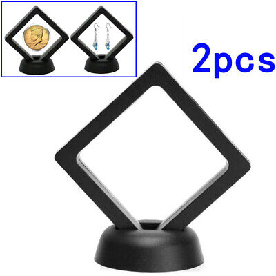 Exhibiting Coin Frame 2pcs Penny 90*90mm Decoration Plastic 3D Display