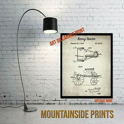 1924 Boring Tractor Patent Art Print - Farmhouse Wall Decor - Rustic Wall Art