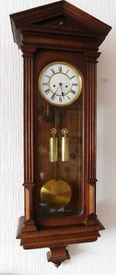 large oak cased lenzkirch double weight vienna wall clock
