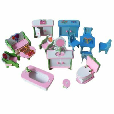 Christmas Gift 3D Dolls House Play Set Pretend Toys Miniature Furniture