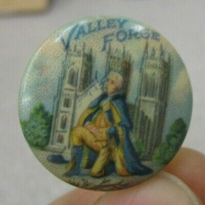 c1900 George Washington At Valley Forge - Kell & Styer Co Pinback Button (Lot E)