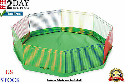 Small Animal Guinea Pig Pet Exercise Portable Playpen Panel Gerbils Cage Indoor.