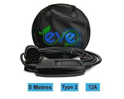 EV Charging Cable, Range Rover Sport P400E, TYPE 2, UK 3 pin plug 5m charger