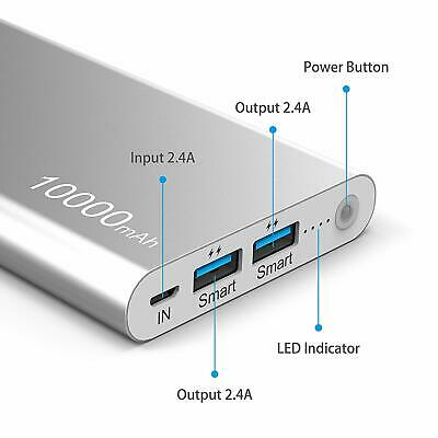 External 10000mAh Power Bank Portable USB Battery Charger For all Mobile Phones