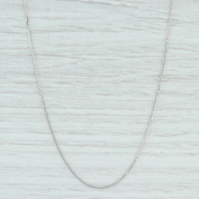 """Wheat Chain Necklace 17.5"""" - 14k White Gold 0.8mm Italian Lobster Clasp"""