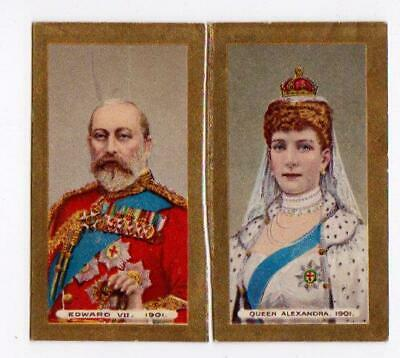 Imperial Tobacco Co Cards Coronation King Edward VII & Queen Alexandra 1902