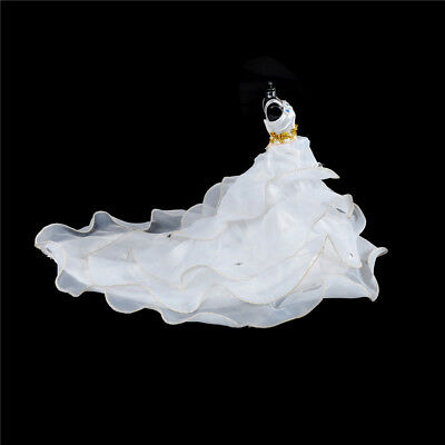 Elegant Doll White Wedding Dress Clothes For  Doll Party Gown Clothing ^D