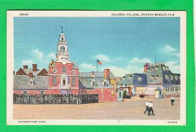 Postcard ~ Colonial village Chicago world's fair ~ Vintage 7563