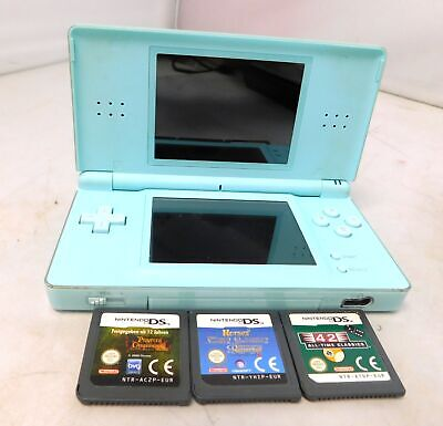 NINTENDO DS Lite Handheld Video Games Console Bundle With 3 Games  - H10