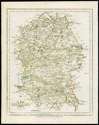 1793 Original Antique MAP of 'WILTSHIRE' by John Cary Outline Colour (41)