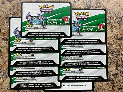 10x Pokemon TCG Online XY Breakthrough Code Cards for TCGO Booster Packs