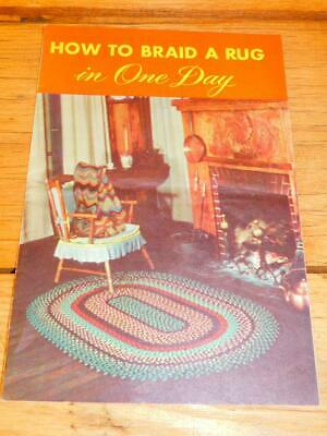 Vintage 1949 HOW TO BRAID A RUG IN A DAY Booklet  Braiding Instructions Patterns