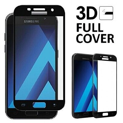 FULL COVER Black Tempered Glass Screen Protector Film for Samsung Galaxy A5 2016