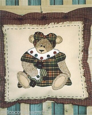 My Dolly Applique Pillow  Sewing Craft Pattern - PATTERN ONLY