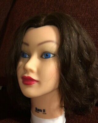 Burmax Sam II 2 Mannequin Head Brown Human Hair Cosmetology