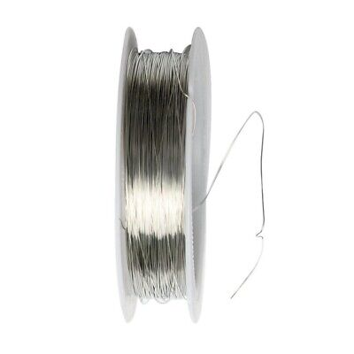 Ribbon Roll 22 m Metal Wire for Jewelry Making Artisanal project 0.3 mm- sil E02