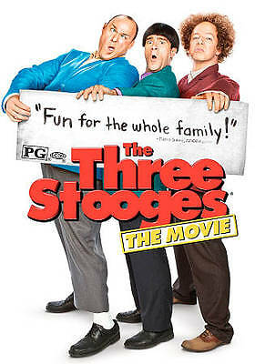 The Three Stooges (DVD, 2012) EUC Larry Curly Moe Free Shipping