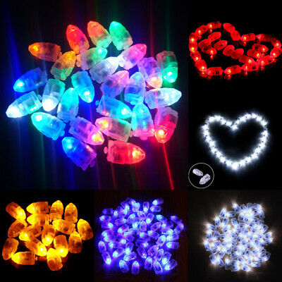 50 Waterproof LED Light For Paper Lantern Balloon Wedding Decoration Part A0R9