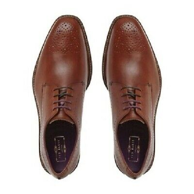 New Ted Baker Leather Brogues Men's Dress Shoes Tan (SIZE: EU 46/ UK 12)