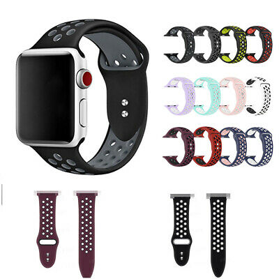 Replacement Silicone Sports BandS 38/42mm For Apple Watch Series1 2 3 4 Sold Hot