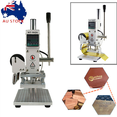 Digital Hot Foil Stamping Machine Label Bronzing Machine Leather Wood Embossing
