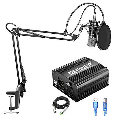 Neewer NW-700 Condenser Microphone Kit for Home Studio Recording Broadcast