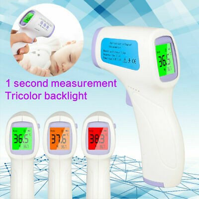 Infrared Medical Thermometer Digital Gun Non-Contact Forehead Baby Adult Care UK