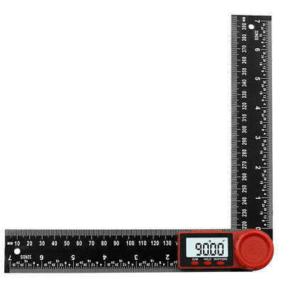 "8"" Electronic 360° Digital Protractor Angle Ruler Woodworking Nylon 0-200mm"