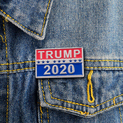 1pc Donald Trump For President 2020 Republican Support Supplies Metal Brooch Pin