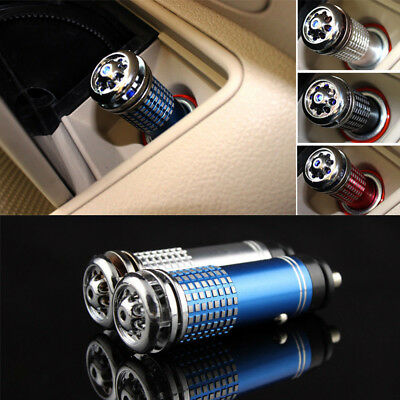 Auto Car Fresh Air Freshener Ionic Purifier Oxygen Bar Ozone Ionizer Cleaner JP