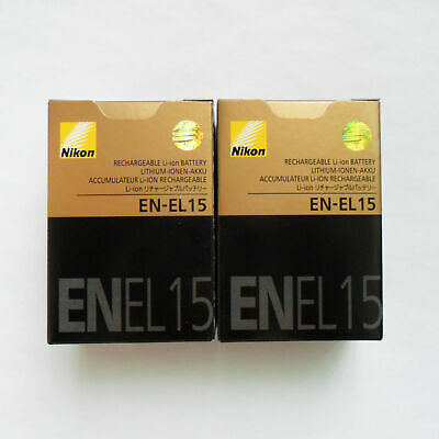 2PCS Nikon EN-EL15A 1900mAh Battery For D850 D7500 D750 D810 D7200 D7000 D7100