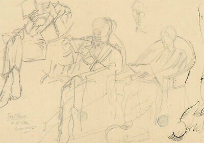 Frank Griffith (1889-1979) - Early 20th Century Graphite Drawing, Seated Figures